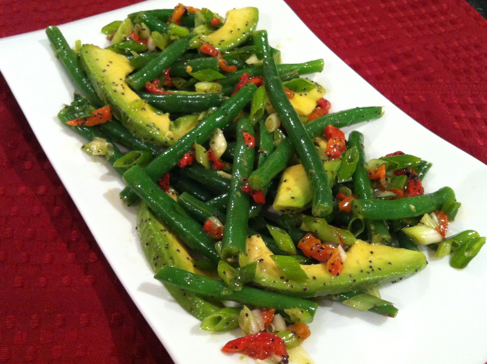 Southern Spoon: Green Bean & Avocado Salad with Poppyseed Lime ...