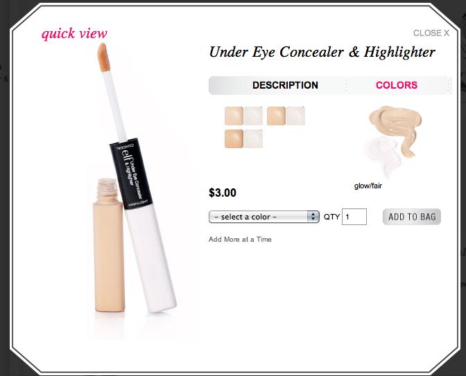EmiCheer: ELF Studio Under Eye Concealer & Highlighter in Glow/Fair