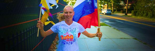 Ольга Абрамовских финишировала на ультрамарафоне длинной 52 дня и 5000 километров