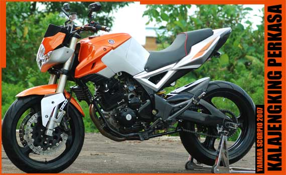Yamaha Scorpio Modif Street Fighter title=