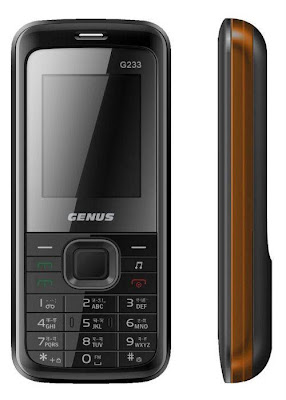 Genus G233 Mobile Phone Review and Specification