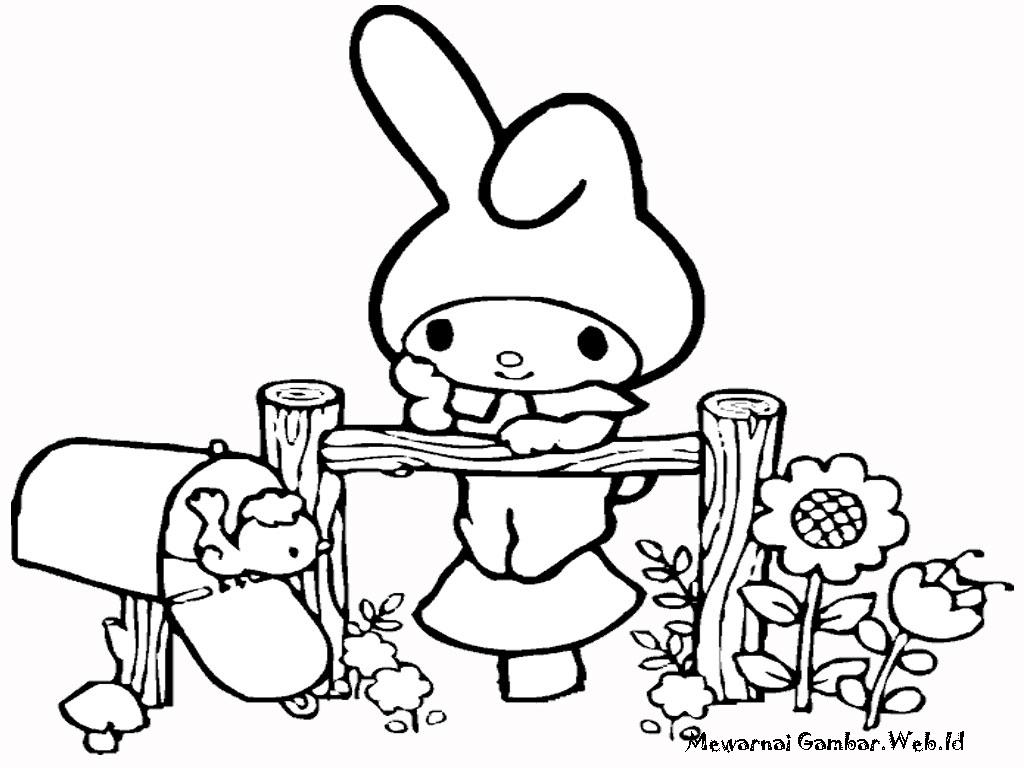 Gambar Gambar Mewarnai Hello Kitty 3 Wartaviva