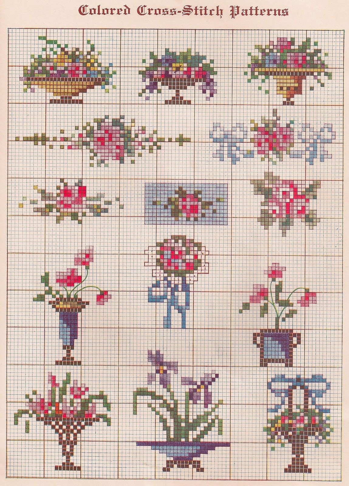 Crazy image in printable cross stitch patterns