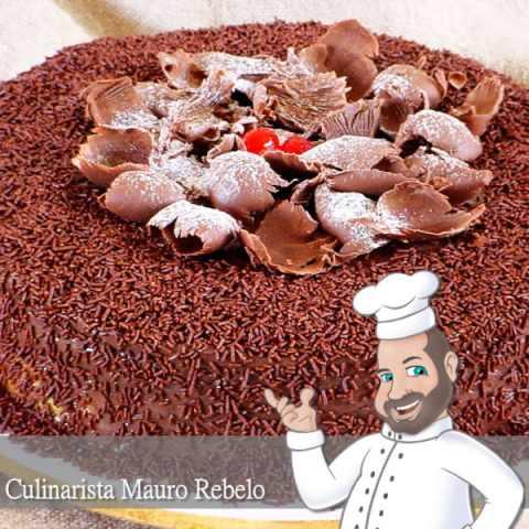 Receita de Bolo, Bolo de Brigadeiro, Bolo de Chocolate, Cobertura de Chocolate
