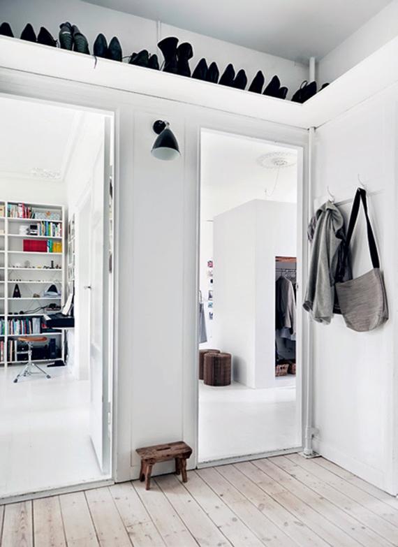 estanteria encima de la puerta  -  espacios pequeños