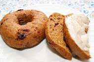 Pumpkin and Dried Cherry Bagels