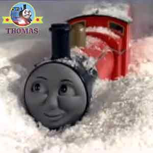 Sir Topham Hatt red number 5 James train Thomas and friends Edward the tank engine train back engine