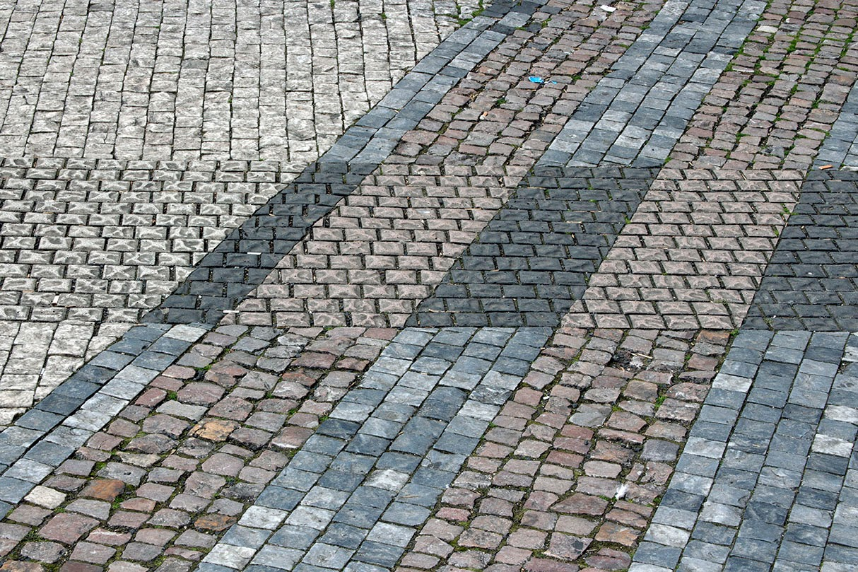pattern in sidewalk Prague