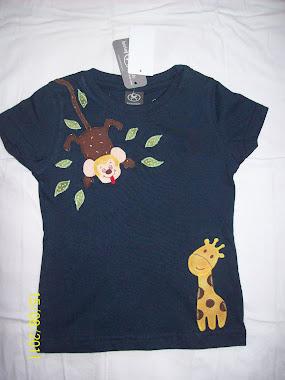 Macaco e girafa - patchcolagem