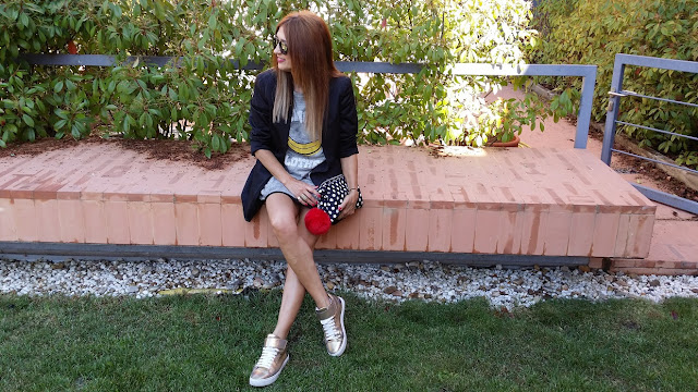 Look, style, Carmen Hummer, The Hip Tee, Isadora Comillas, Bimba y Lola, Bag, Bolso de Mano, sneakers