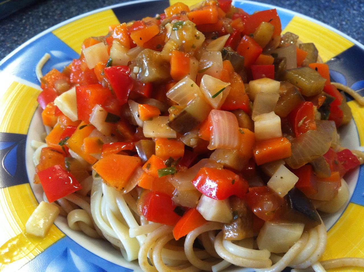 cloudy 39 s food blog pasta mit gem sesauce. Black Bedroom Furniture Sets. Home Design Ideas