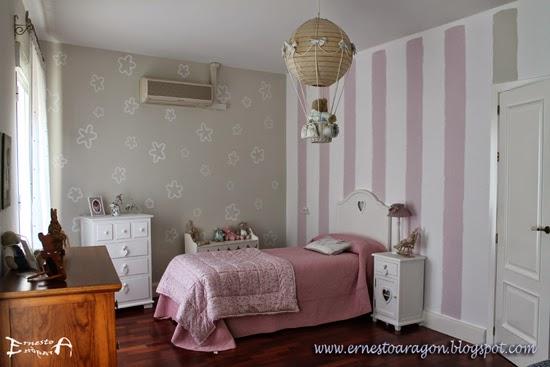 Ernesto arag n pintura para el hogar rayas que huyen de - Habitacion rosa palo ...