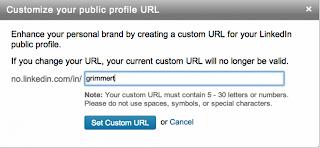 Egen URL LinkedIn