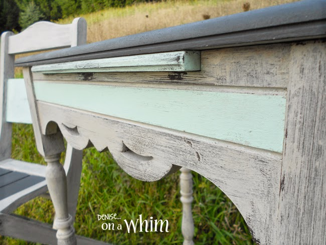 Pretty Antique Writing Table and Chair Makeover from Denise on a Whim