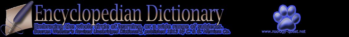 Encyclopedian Dictionary ( Ceratium Fusus )
