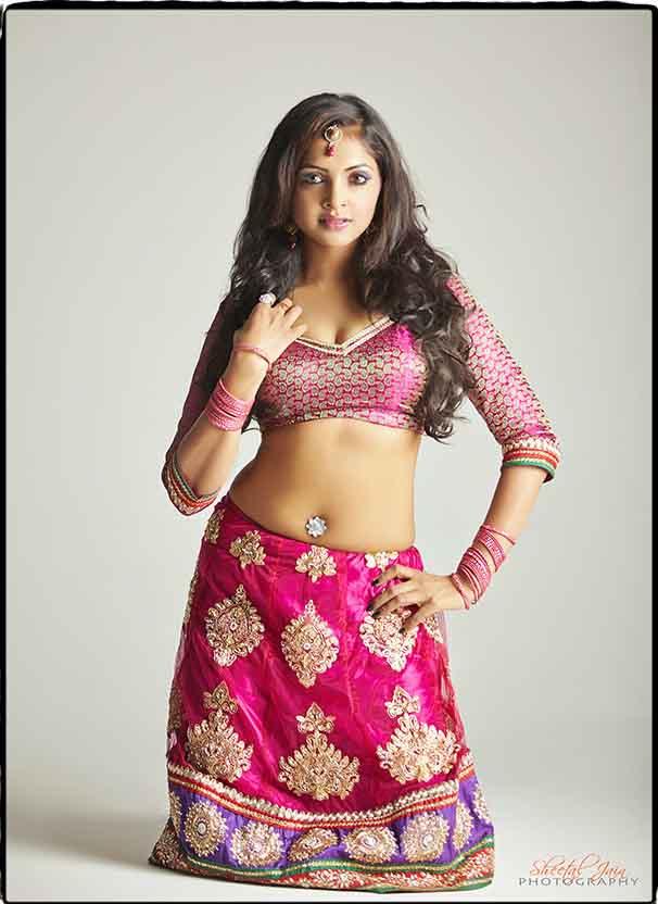 Sanchita Padukone in half saree stills