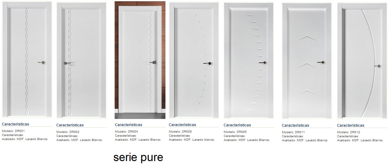 Made of wood puertas lacadas en blanco los nuevos modelos 2013 de puertas castalla serie pure - Puertas lacadas en blanco precios ...