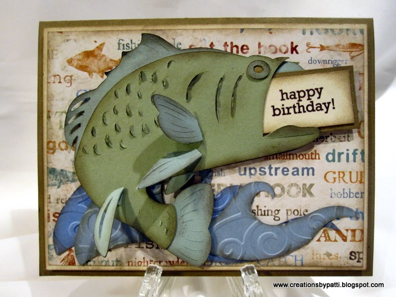 Creations by patti bass fishing b 39 day card for Fishing birthday wishes