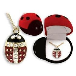 lady bug diamond pendant necklaces