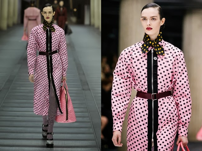 Miu Miu AW 2013 Pink dots dress 26 Looks