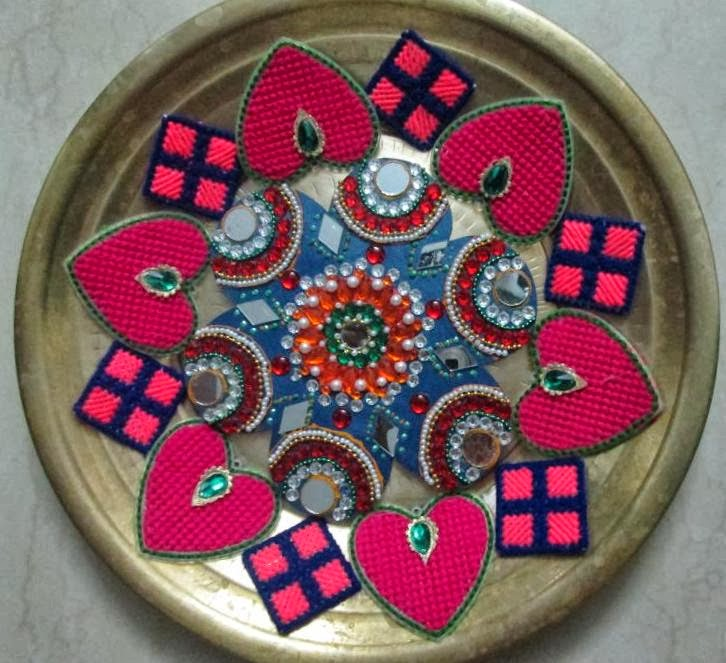 Simple only though like to share with you for Arathi thattu decoration