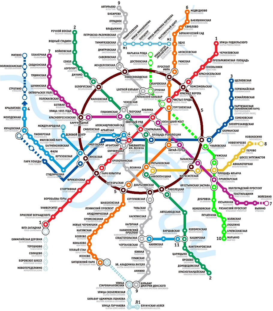 Valencia Metro Map English