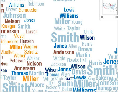 Cartographic Curiosities Whats In A Surname - Interactive us surnames map