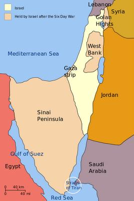 Sinai peninsula gaza strip map