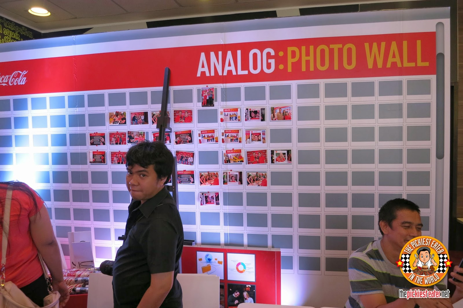 analog photo wall
