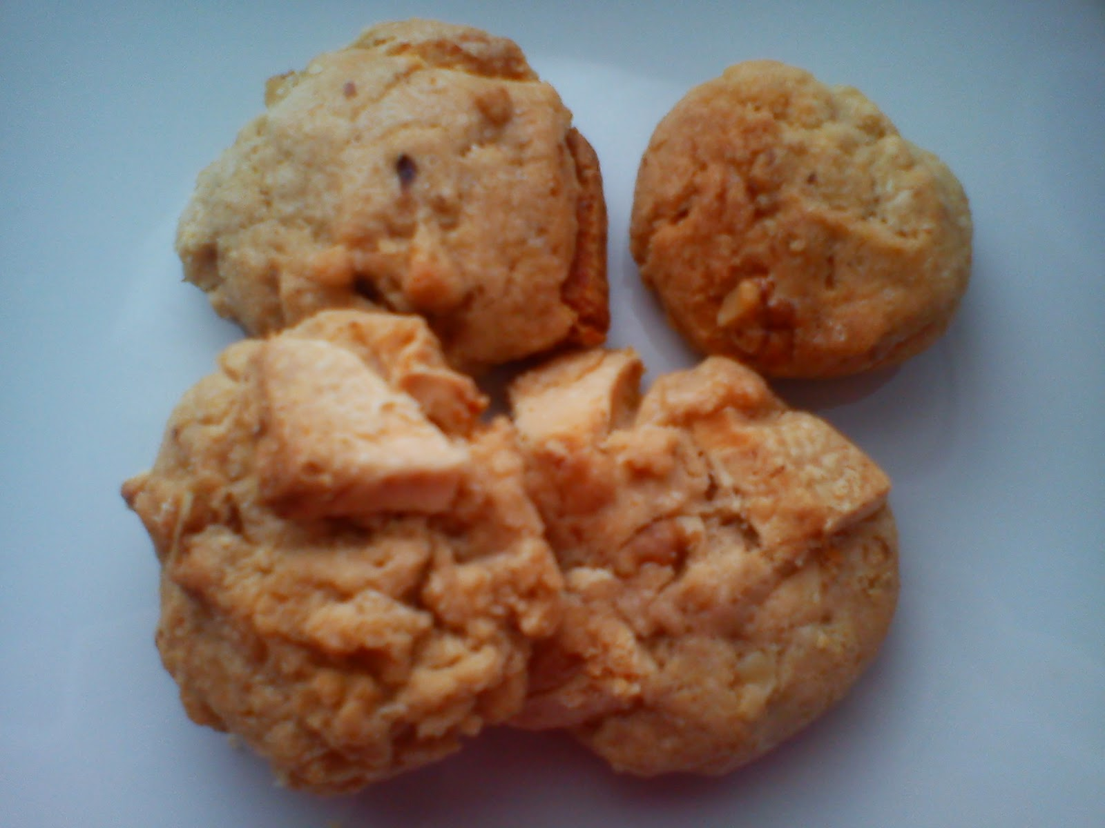 Galletas de chocolate blanco y nueces