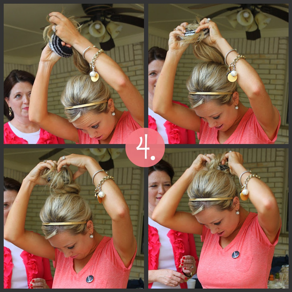 How to Put in a Sock Bun