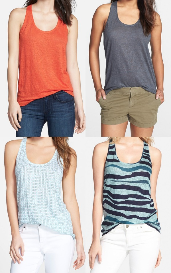 Summer Fashion - Halogen Linen Tank