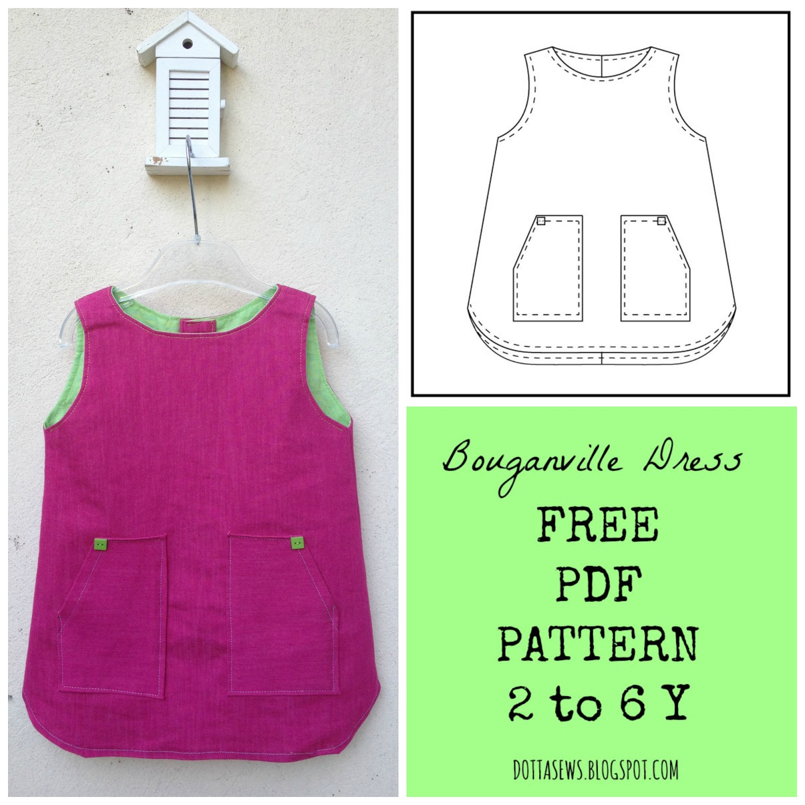 Bouganville dress pdf pattern