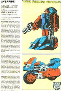 Override (ficha transformers)