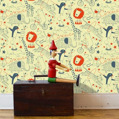 circus children's wallpaper