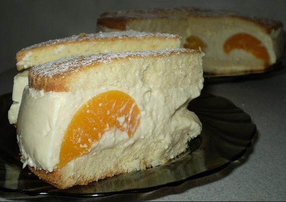 Рецепт торта с персиками с фото