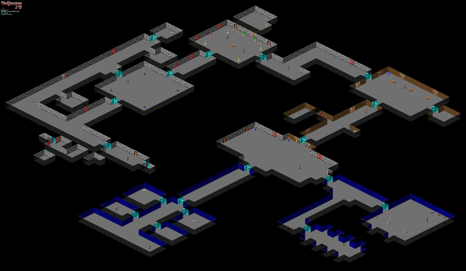 The wolfenstein 3d blog may 2011 for Floor 2 map swordburst 2