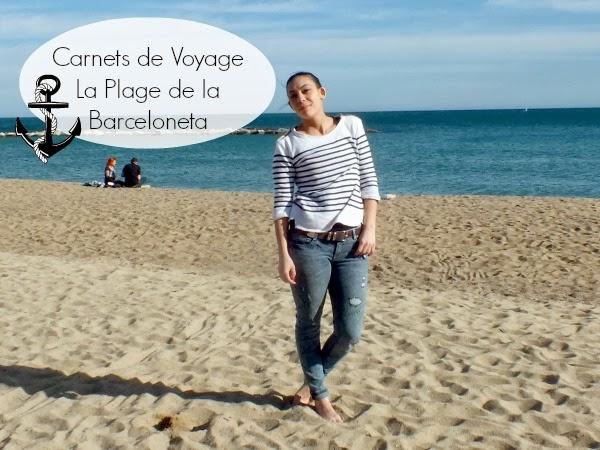 Carnets de Voyages à Barcelone: Petit marin à la Plage de la Berceloneta