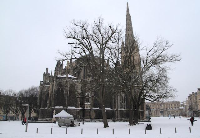 bordeaux sous la neige