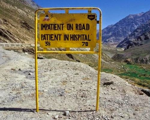 Impatient on road, patient in hospital