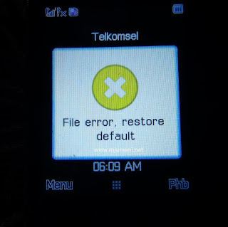 File error, Restore default