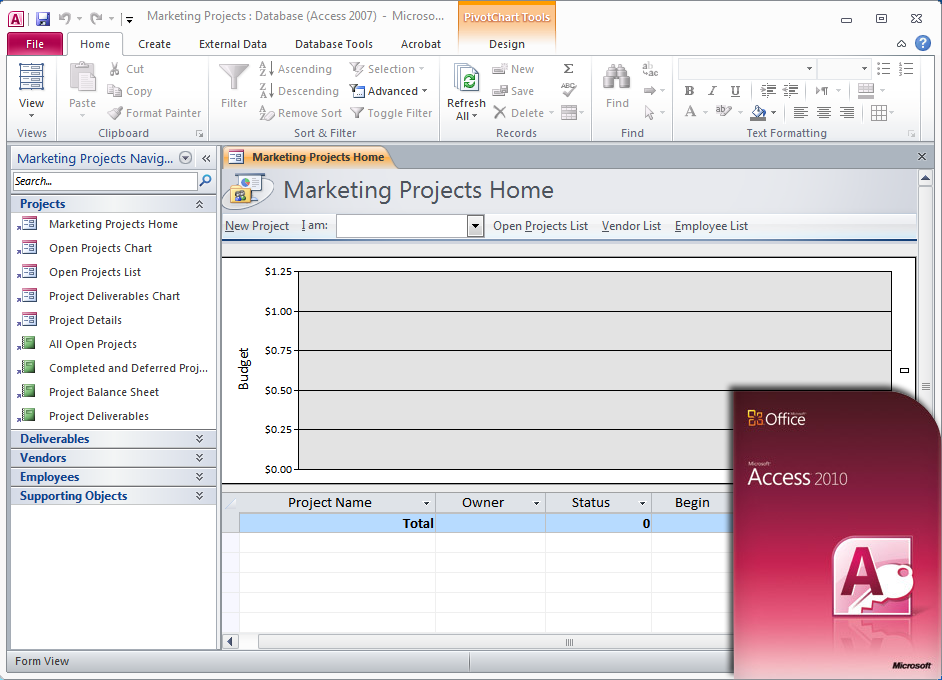 Screen 1 - microsoft access 2007
