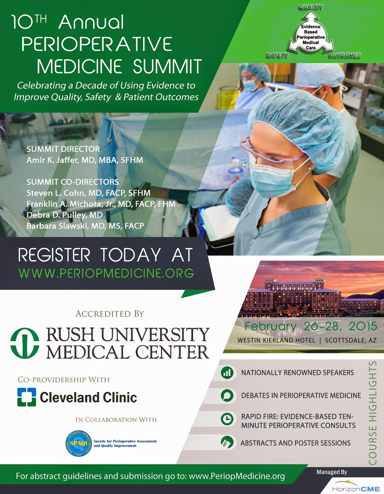 10th Annual Perioperative Medicine Summit 2015