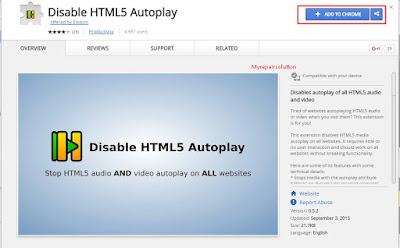 extension disable HTML5 autoplay