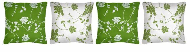 Almofadas drop green 37x37cm - 19,00 cada ou 4 por R$70,00
