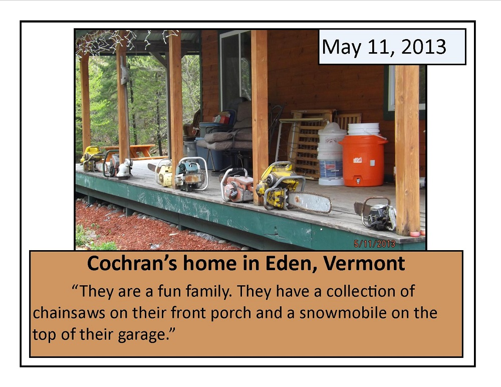 May 11, 2013 Cochran's home