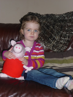 Knitted Peppa Pig