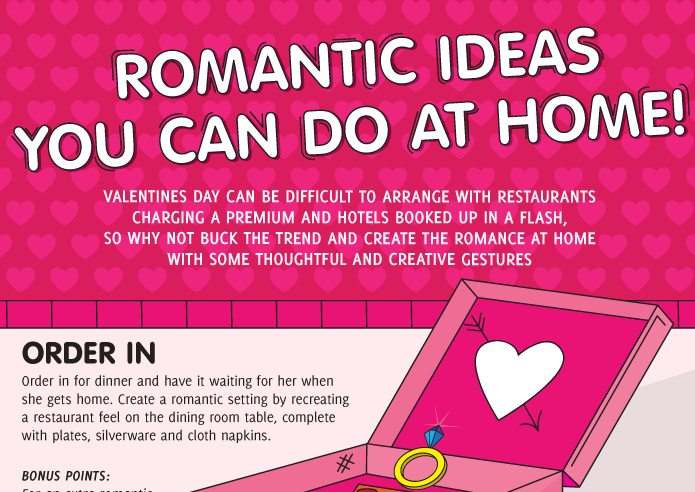 Romantic Ideas You Can Do At Home Infographic Visualistan