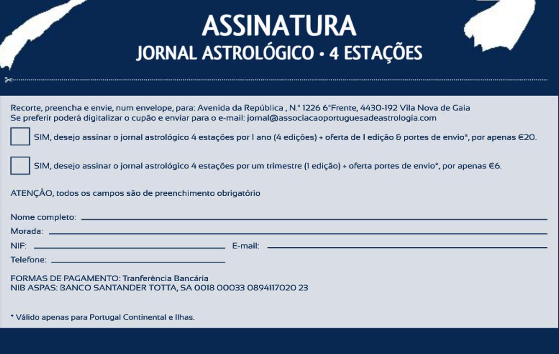 Formulário Assinatura Jornal Astrológico