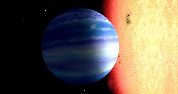 Água encontrada na atmosfera de planeta próximo